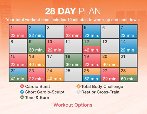 In This Plan We Vary Up The Workouts Week To But Every Includes Cardio Only Days Red Rest Or Cross Training White And Combination