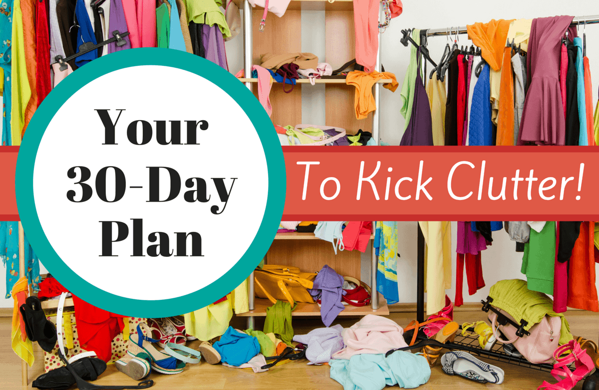 Declutter your home in 30 days sparkpeople for Declutter house plan