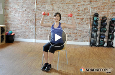 9 minute seated arm and shoulder workout video sparkpeople publicscrutiny Gallery
