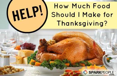 make the perfect amount of food this thanksgiving